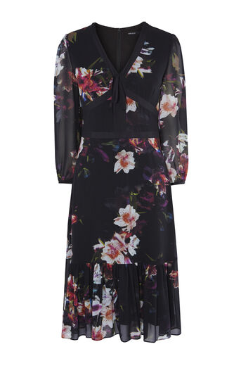 Karen Millen, GEORGETTE ORCHID DRESS Multicolour 0