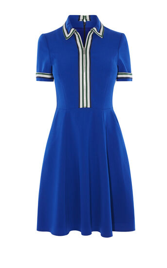 Karen Millen, Sporty polo dress Blue 0