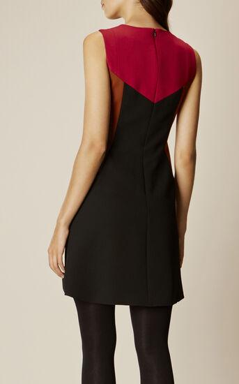 Karen Millen, GRAPHIC DRESS Red/Multi 3