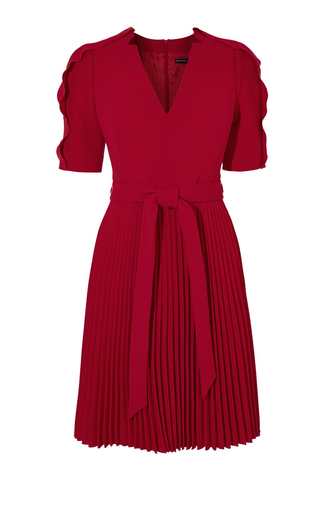 Karen Millen, CREPE DRESS Red 0