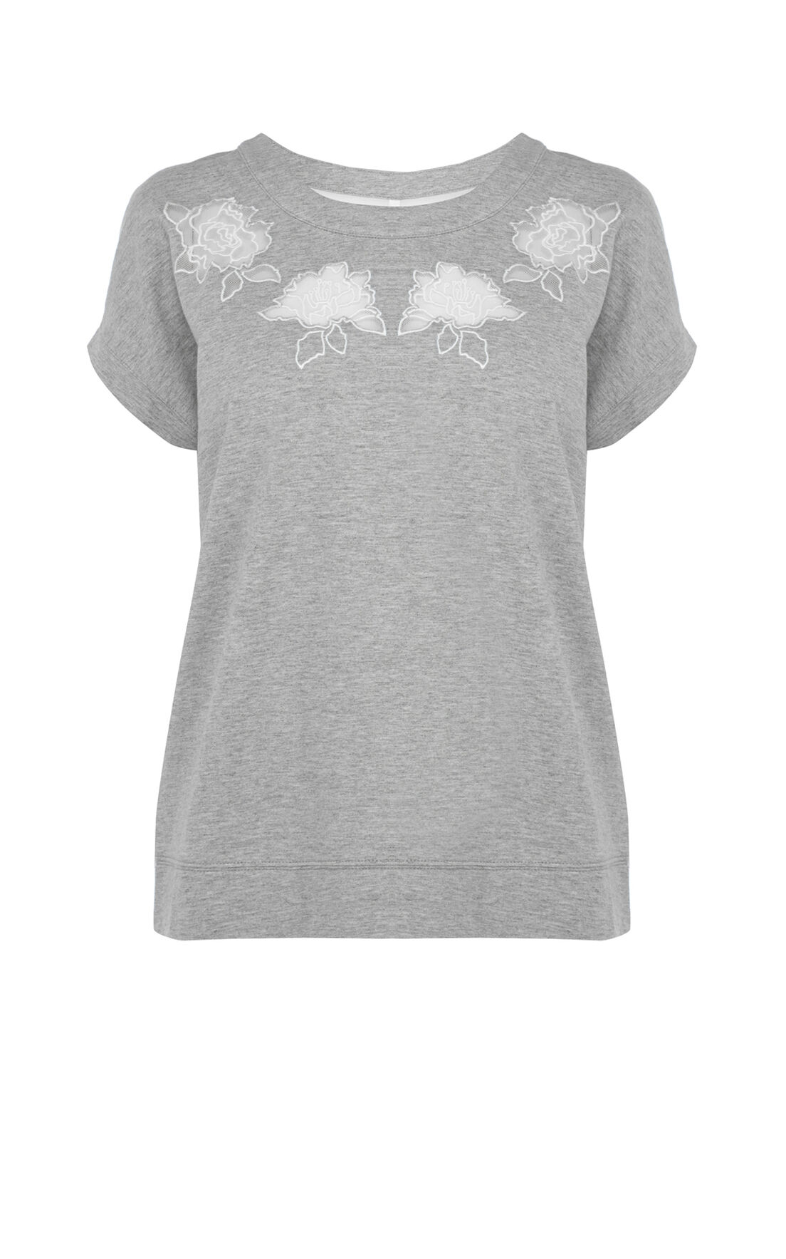 Karen Millen, Embroidered Sweatshirt Grey/Multi 0