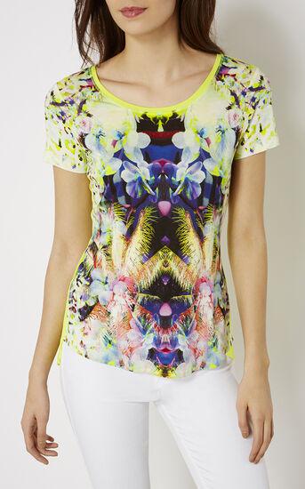 Karen Millen, PALM-PRINT T-SHIRT Multicolour 2
