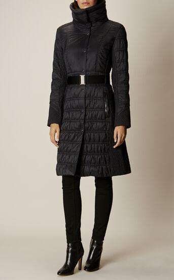 Karen Millen, BELTED PADDED COAT Black 2
