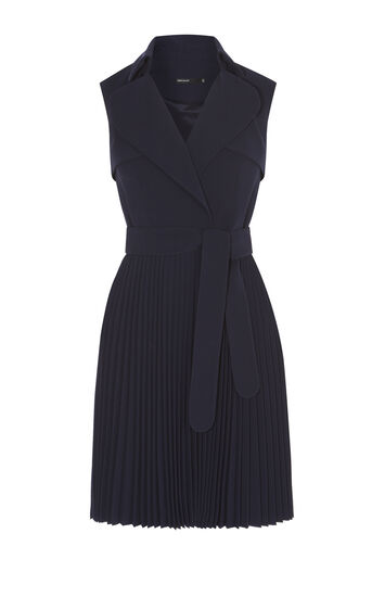 Karen Millen, PLEATED TRENCH DRESS Navy 0