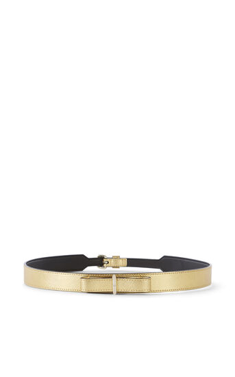 Karen Millen, LEATHER BOW WAIST BELT Gold 0