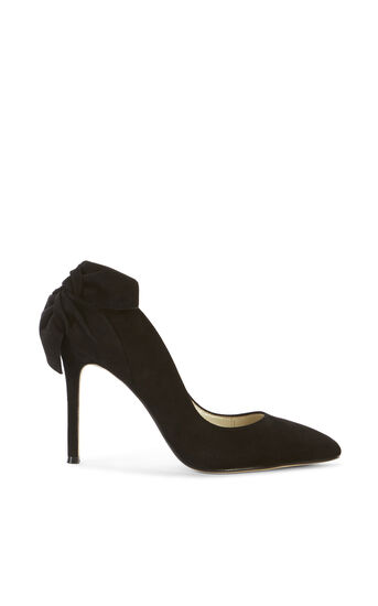 Karen Millen, BOW BACK SUEDE COURT Black 0