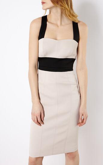 Karen Millen, CROSS-OVER STRAP DRESS Nude 2