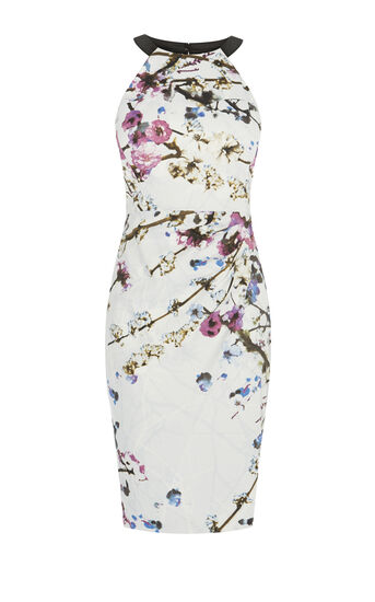 Karen Millen, SAKURA DRESS Multicolour 0