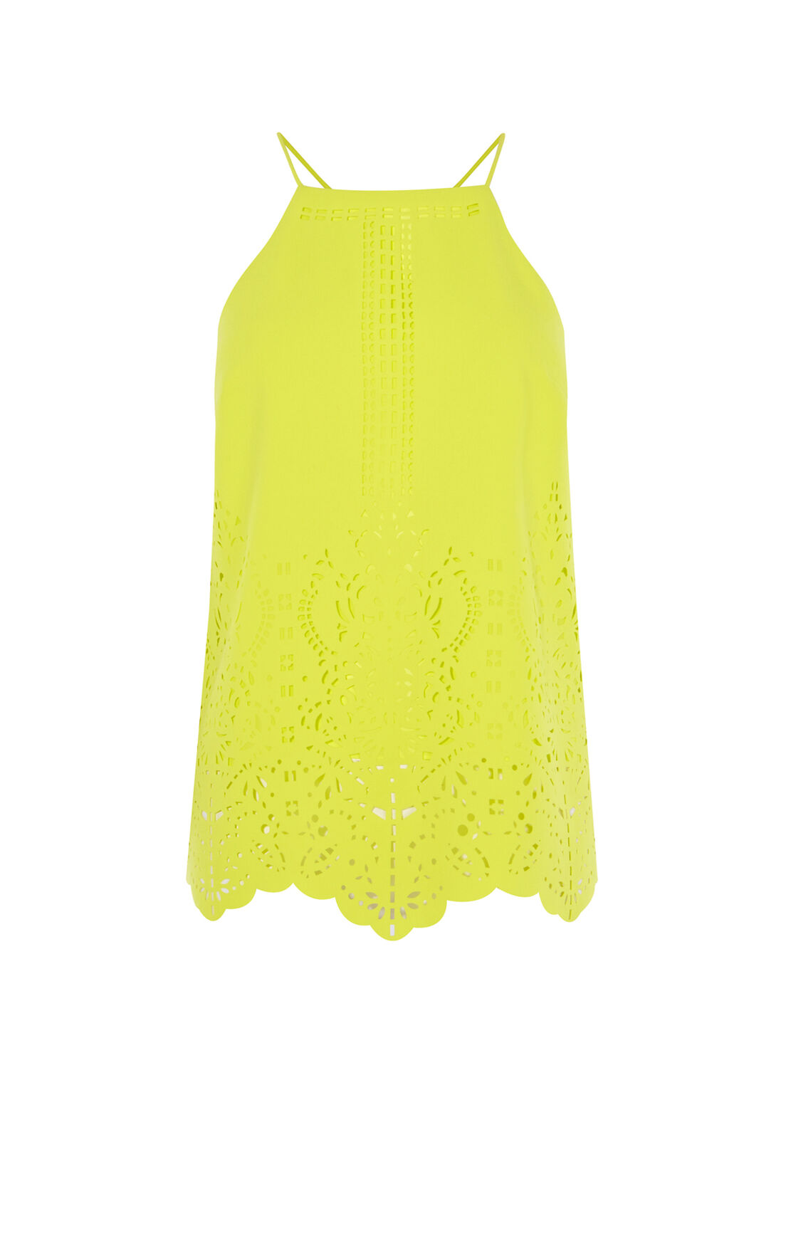 Karen Millen, LASER-CUTWORK TOP Lime 0