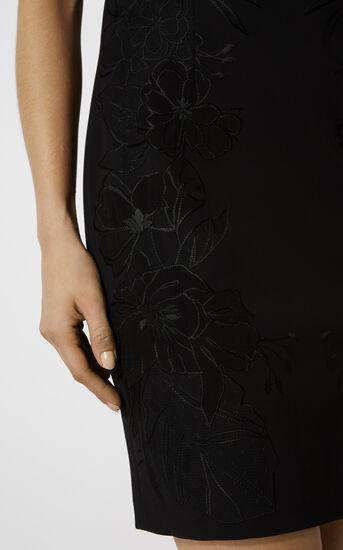 Karen Millen, FLORAL-APPLIQUÉ PENCIL DRESS Black 4
