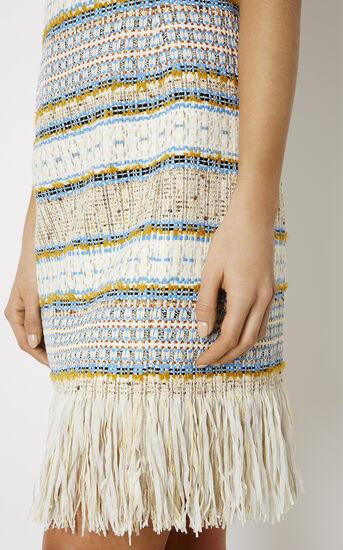 Karen Millen, FRINGED TWEED DRESS Multicolour 4