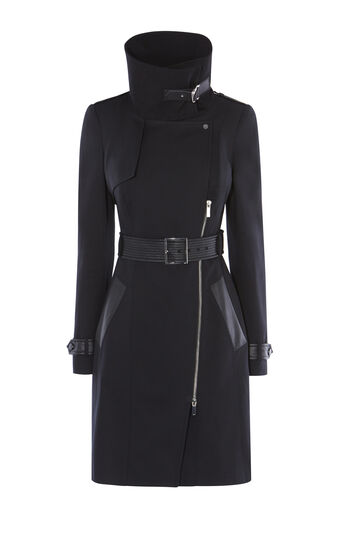 Karen Millen, DRAMATIC TRENCH COAT Black 0