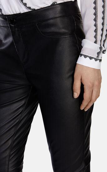 Karen Millen, Leather Look Legging Black 4