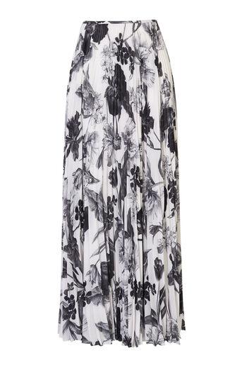 Karen Millen, FLORAL-PRINT MAXI SKIRT Black & White 0