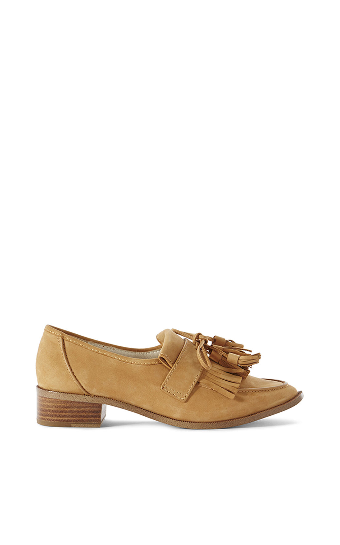 Karen Millen, LEATHER TASSEL LOAFER Camel 0