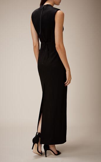 Karen Millen, TUXEDO MAXI DRESS Blk & Ivry 2