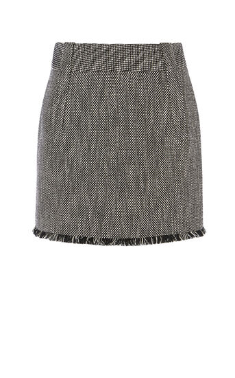 Karen Millen, TWEED SKIRT Black/Multi 0