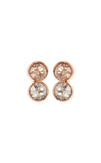 Karen Millen, Tiny Dot Stud earrings Rose Gold Colour 0