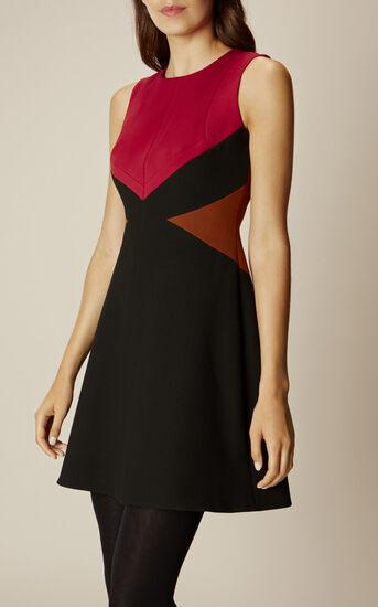 Karen Millen, GRAPHIC DRESS Red/Multi 2
