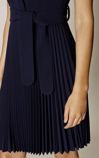 Karen Millen, PLEATED TRENCH DRESS Navy 4