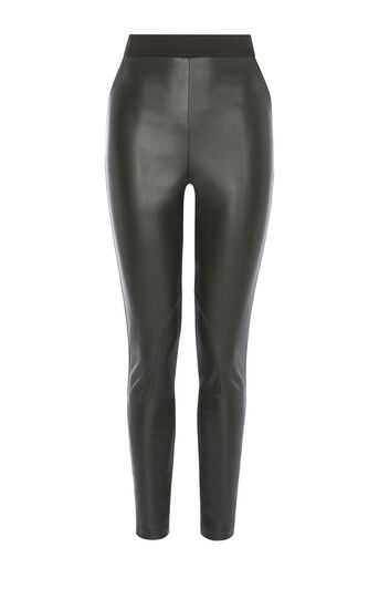 Karen Millen, FAUX-LEATHER LEGGING Black 0