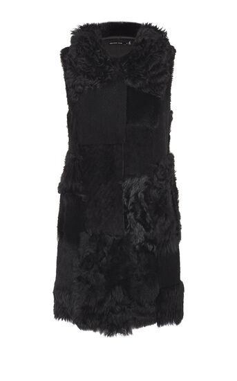 Karen Millen, BLACK PATCHWORK GILET Black 0