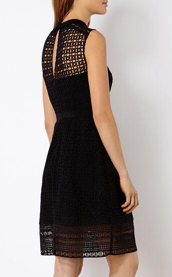 Karen Millen, BRODERIE SHIRT DRESS Black 3