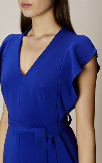 Karen Millen, FRILL WING DRESS Blue 4