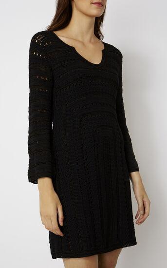 Karen Millen, CROCHET DRESS Black 2