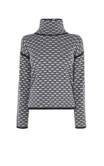 Karen Millen, GEO-PATTERN JUMPER Black & White 0