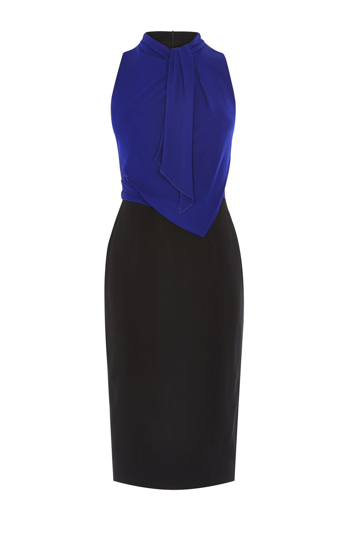 Karen Millen, DEBONAIRE DRESS Black/Multi 0