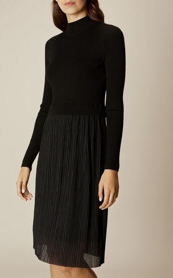 Karen Millen, PLEAT-SKIRT DRESS Black 2