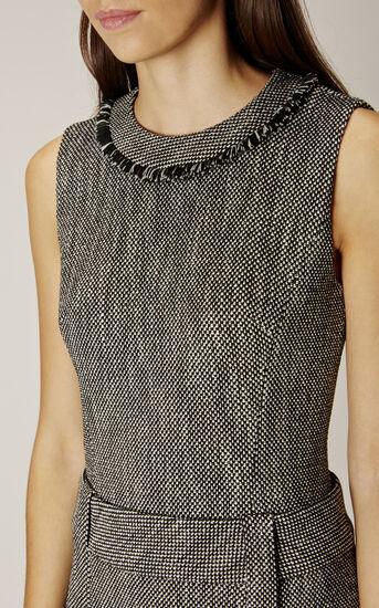 Karen Millen, TWEED DRESS Black/Multi 4