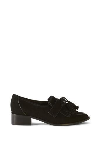 Karen Millen, Wildleder-Loafer mit Quaste Schwarz 0