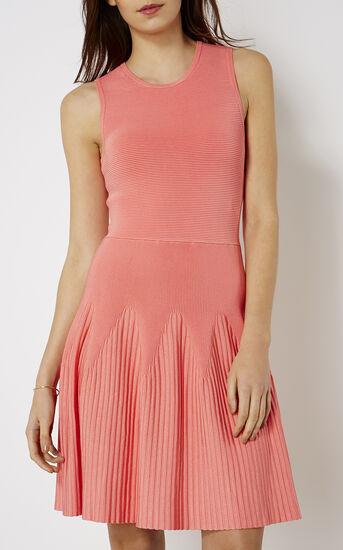 Karen Millen, RIBBED KNIT DRESS Pink 2