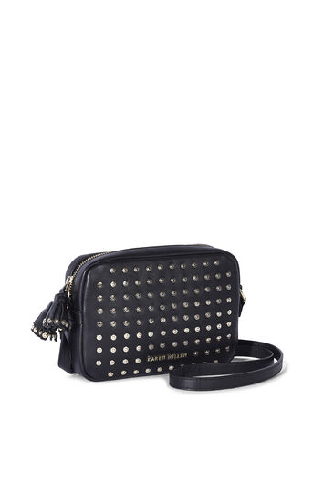 Karen Millen, LEATHER STUD CAMERA BAG Black 3