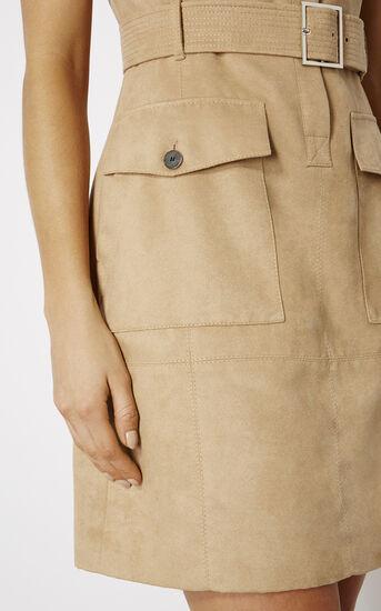 Karen Millen, FAUX-SUEDE SAFARI DRESS Camel 4