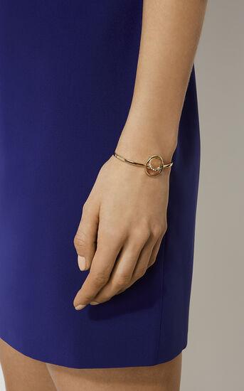 Karen Millen, Crystal Ribbon Cuff Gold Colour 1
