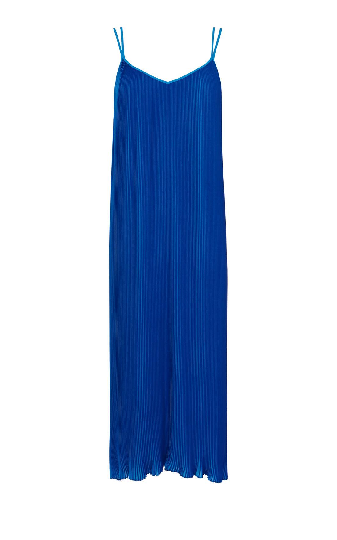 Karen Millen, Printed pleated maxi dress Blue 0