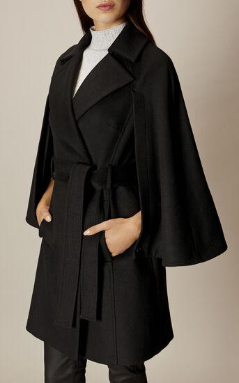 Karen Millen, BELTED CAPE Black 2