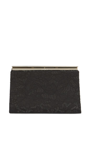 Karen Millen, LACE CLUTCH Black 0