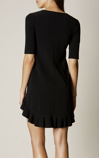 Karen Millen, FRILL-HEM DRESS Black 3