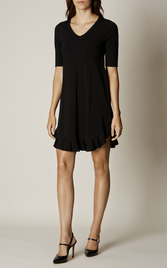Karen Millen, FRILL-HEM DRESS Black 1