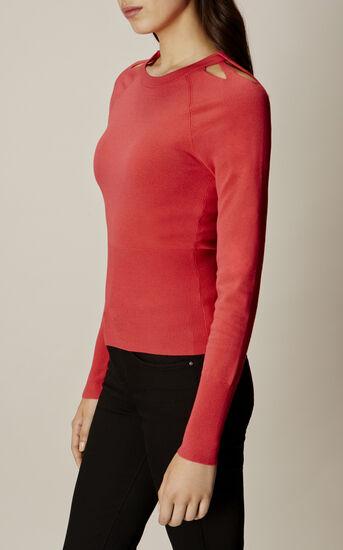 Karen Millen, CUT-OUT NECK TOP Pink 2