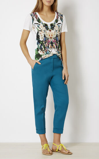 Karen Millen, JUNGLE-PRINT T-SHIRT Multicolour 1