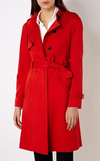 Karen Millen, RED TRENCH COAT Red 2