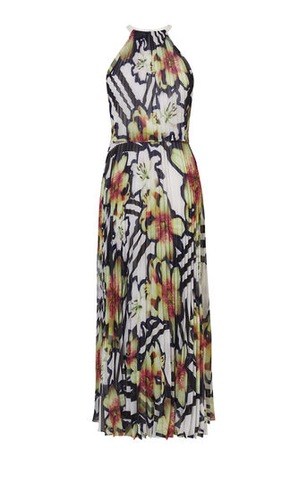 Karen Millen, PRINTED MAXI DRESS Multicolour 0