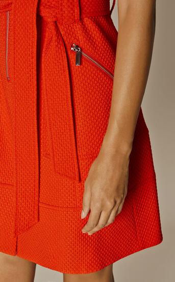 Karen Millen, ZIP-FRONT DRESS Orange 3