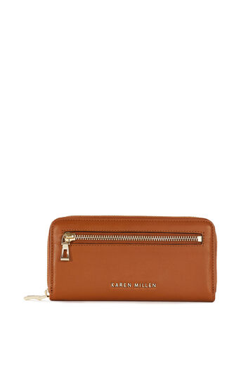 Karen Millen, ZIP PURSE Tan 0