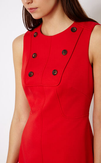 Karen Millen, BUTTON-DETAIL MINIDRESS Red 4